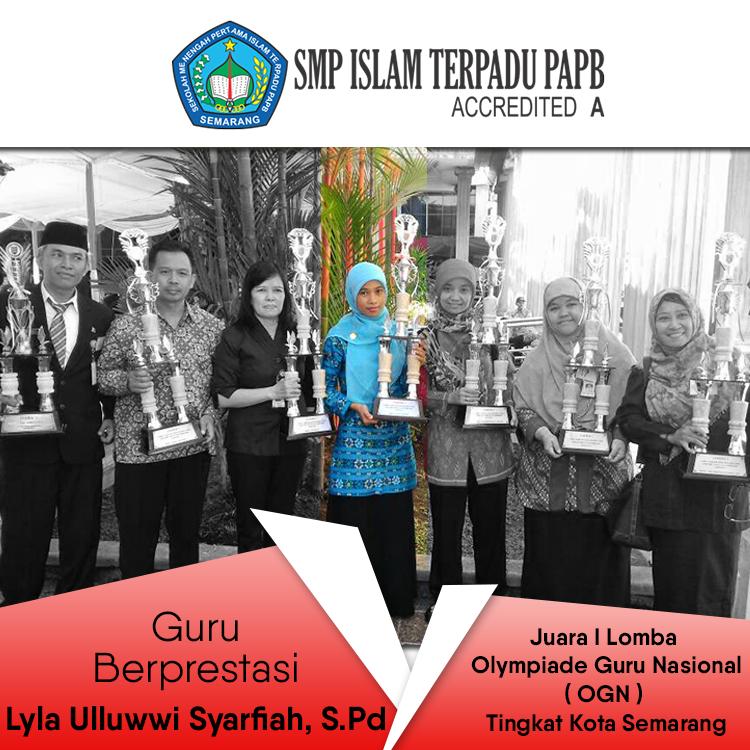 smp-islam-terpadu-papb-semarang-guru-berprestasi-Hardiknas-2-Mei-2017-menerima-piala-Juara-I-Lomba-Olympiade-Guru-Nasional-tingkat-Kota-Semarang