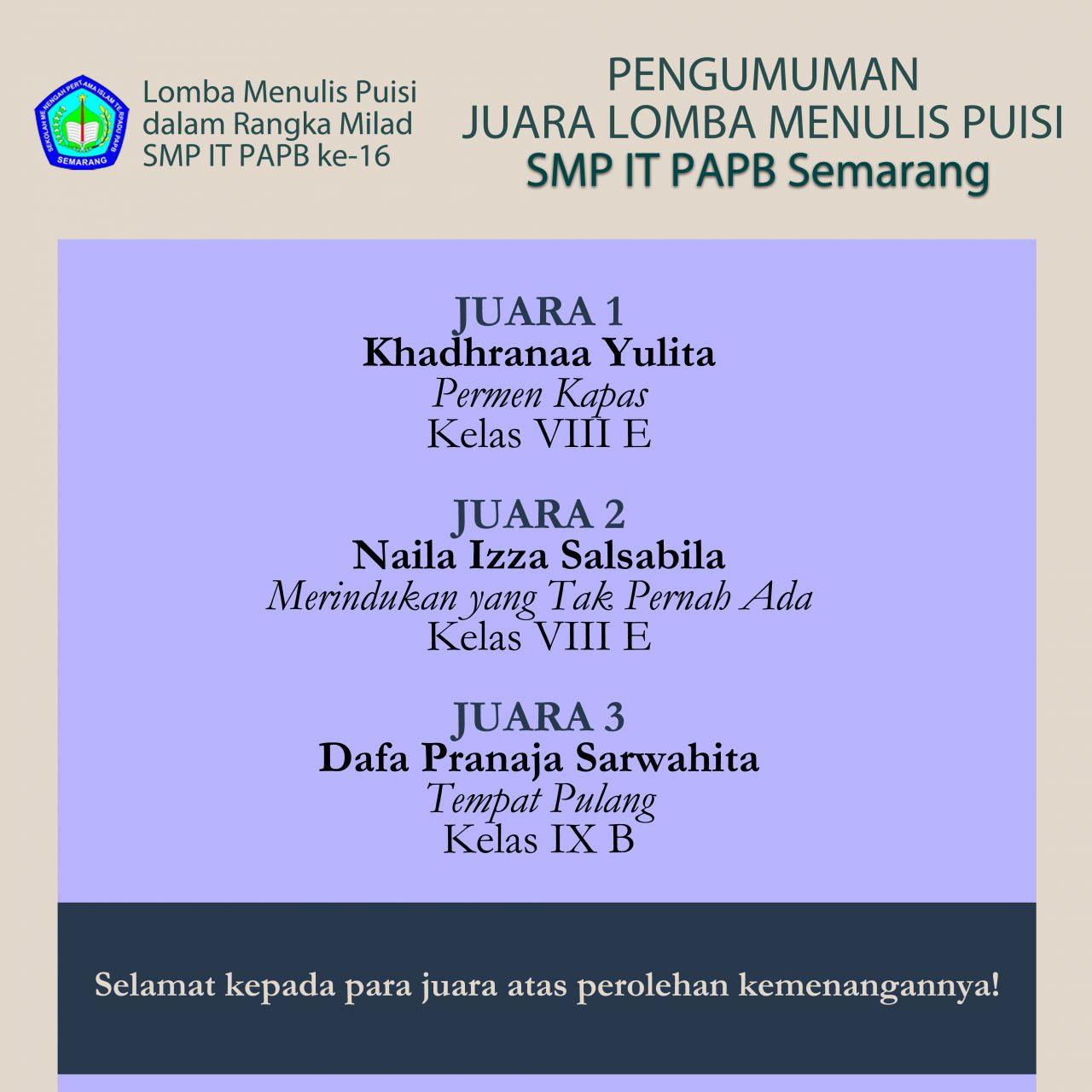 Pamflet Juara SMP