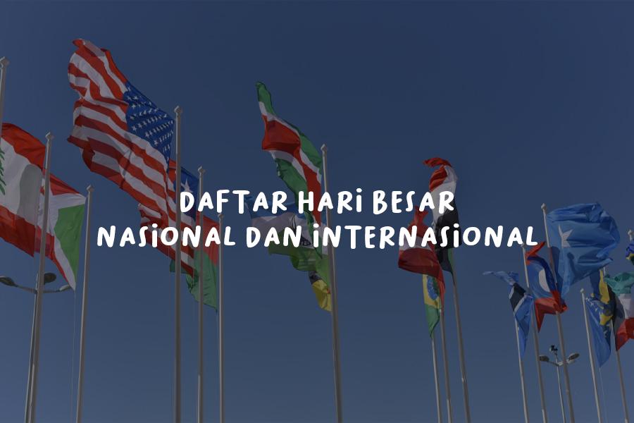 Daftar Hari Besar Nasional dan Internasional