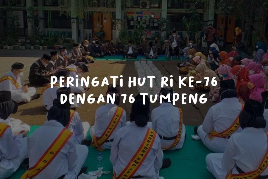SMP IT PAPB Semarang Peringati HUT RI ke 76 dengan 76 Tumpeng