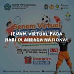 Senam Virtual pada Hari Olahraga Nasional